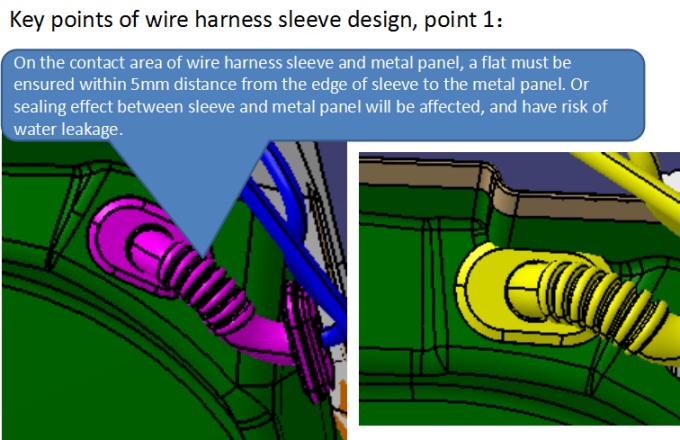 key point when designing rubber wire sleeve, one:
